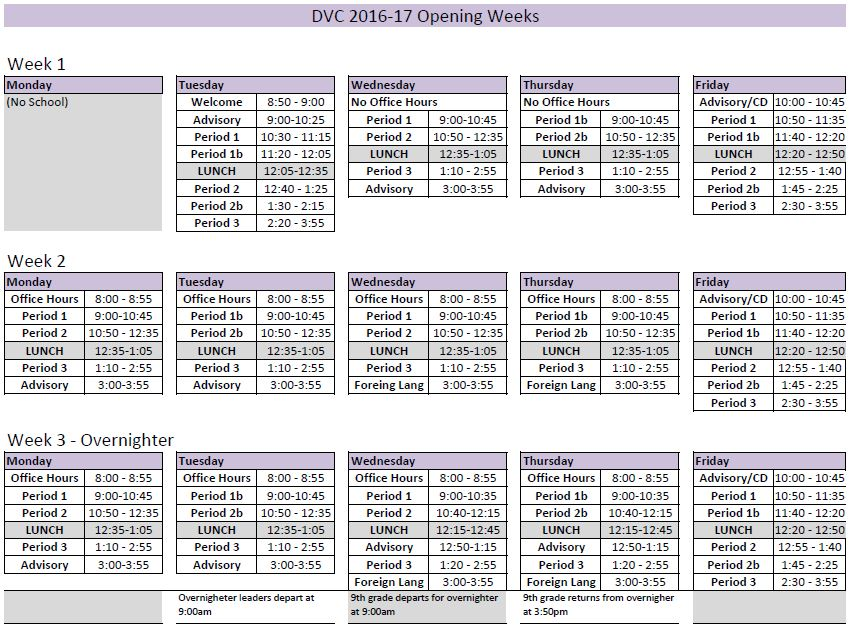 First 3 Weeks - DVC